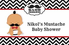 mustache invitations little man mustache black grey baby shower place mats little man