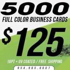 Full Color Business Card Printing 2 500 Full Color Business Cards Stickers 70lb Stock Uv Coated