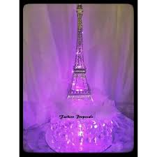 Paris Centerpieces 2 Led Eiffel Towers Centerpieces Changing Color Eiffel Tower Set