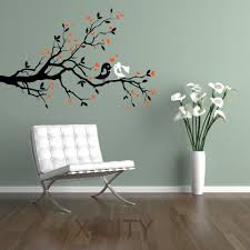 compare prices on heart wall stencils online shopping buy low tree branch heart adorable bird wedding love colorful wall art sticker vinyl decal die cut room