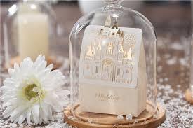 wedding souvenir 50pcs castle white golden color wedding souvenir candy