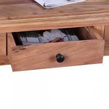 Schreibtisch Breite 110 Cm Finebuy Konsolentisch Massivholz Akazie Konsole Mit 2 Schubladen