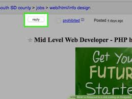 Craigslist Resumes Job Wanted by How To Respond To A Job Listing On Craigslist 11 Steps