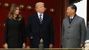 in state visit to beijing trump presses china over north korea