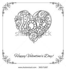 vector decorative love heart and vintage flowers card for