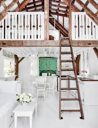 a charming cottage with country style details and lots of white
