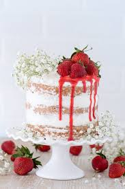 this strawberry cake is made with fresh pureed strawberries