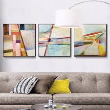 3 panels canvas paintings modern abstract wall paintings