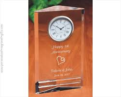 Orange Desk Accessories by Engraved Desk Clocks Custom Etched Crystal U0026 Marble Clocks