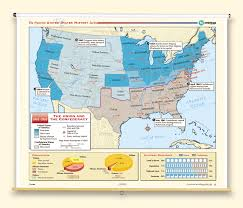 map of the us states in 1865 the nystrom complete u s history map set nystrom education