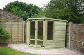 Summer House For Small Garden - tanalised corner summerhouse dream shed for me at the bottom of