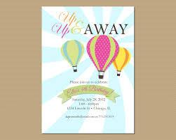 Invite Birthday Card Air Balloon Birthday Invitation Printable Invitation