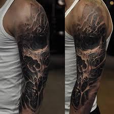 skull sleeve http tattooideas247 com evil skull sleeve