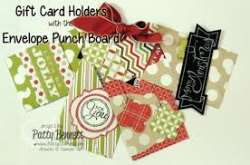 stin up envelope punch board gift card holders