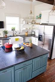 colorful kitchen islands 668 best paint colors kitchen cabinets images on