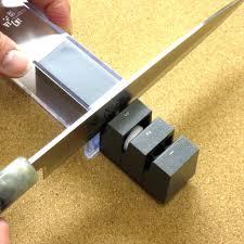 sharpening japanese kitchen knives magoroku kitchen knife sharpener for single edged blade only japan