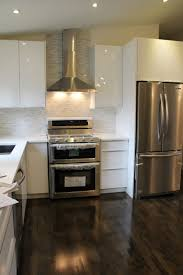 Rona Laminate Flooring Pretty White Color Rona Kitchen Cabinets Featuring L Shape Kitchen