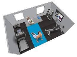 home gym floor planner