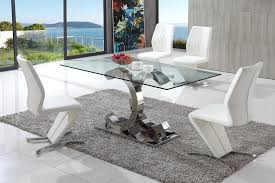 Glass Dining Table And 6 Chairs Glass Contemporary Dining Tables And Chairs Dining Room Decor Of