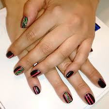 nail art black lines nail art designs with lines simple design