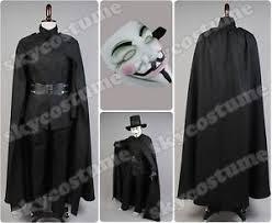 v for vendetta costume v for vendetta fawkes costume set jacket belt