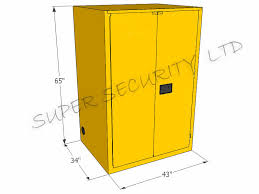 Yellow Flammable Storage Cabinet Industrial Metal Safety Flammable Storage Cabinet For