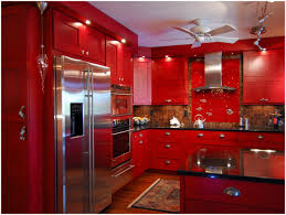 kitchen red kitchen cabinets what color walls red kitchen