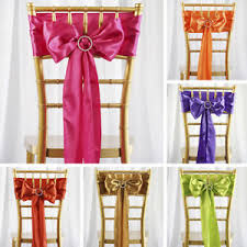 chair ties 75 x satin chair sashes ties bows wedding party catering reception
