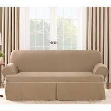 sure fit contrast cord cocoa sofa t cushion slipcover free