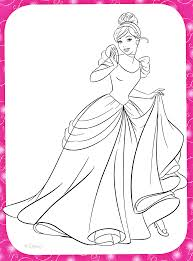 coloring pages disney princesses cinderella coloring pages ideas