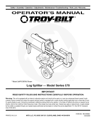 log splitter users guides from