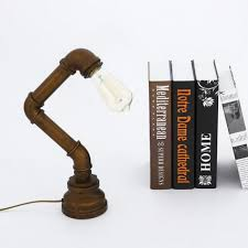 Minimalist Desk Lamp Winsoon Vintage Water Pipe Retro Desk Top Loft Minimalist 1 Light