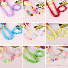 color bead necklace images Korea baby girls accessories colorful pure color bead necklace jpg