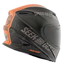 vega motocross helmet 80140 matte black orange speed strength ss1600 cruise missile full