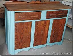 refinished art deco buffet