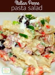 italian penne pasta salad melissassouthernstylekitchen com