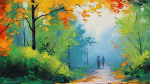 1920x1080 fall wallpaper 1920x1080 autumn painting couple desktop pc and mac wallpaper