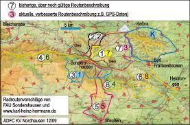 Fau Map Adfc Allgemeiner Deutscher Fahrrad Club E V Um Sondershausen