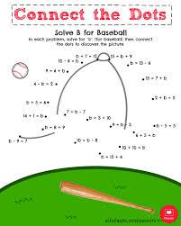 solve b for baseball math printable parents scholastic com