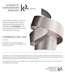 contemporary jewellery london benchpeg k2 academy of contemporary jewellery presents ute decker