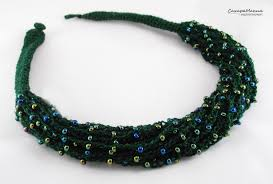 beaded jewelry design necklace images Necklace boho style knitting beaded jewelry designer jewelry jpg