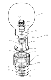 Who Invented The Led Light Bulb by Patent Us8201985 Light Bulb Utilizing A Replaceable Led Light