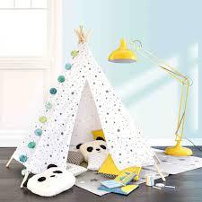tipi chambre enfant tipi enfant motifs triangles et étoiles h 145 cm maisons du monde