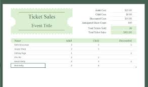 Free Excel Sales Tracking Template Ticket Sales Tracker Excel Templates For Every Purpose