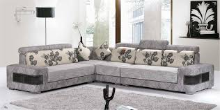 Living Room With Grey Corner Sofa Decor Red Leather L Shaped Sofa With Ottoman And Area Rug For