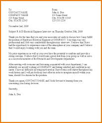 5 thank you letter after job interview expense report