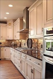 Kitchen Neutral Colors - kitchen neutral backsplash tile red glass tile blue and white