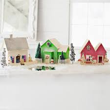 Better Homes And Gardens Christmas Crafts - craft a mini holiday village christmas villages glitter and
