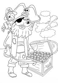 treasure chest coloring pages printable pirate kids