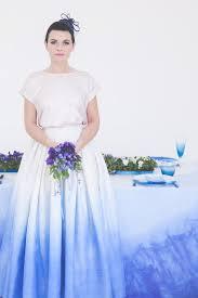 blue ombre wedding inspiration u0026 dip dye wedding dress